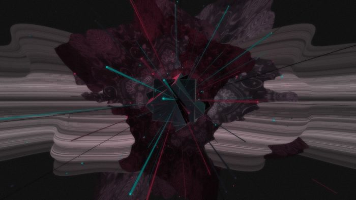 Joshua Davis - Generative Art Wallpaper - Dark colors with pinks and blues
