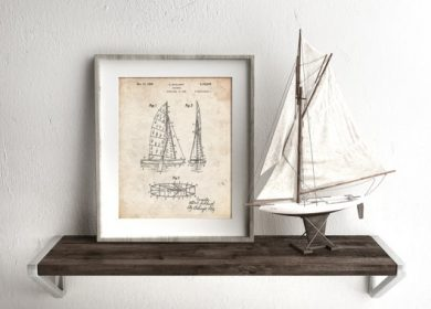 A patent print of sailboats