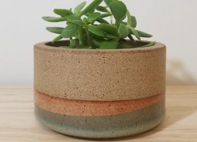 Ceramic pottery with earth tones