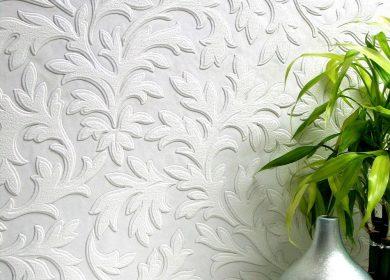 A high leaf vinyl wallpaper